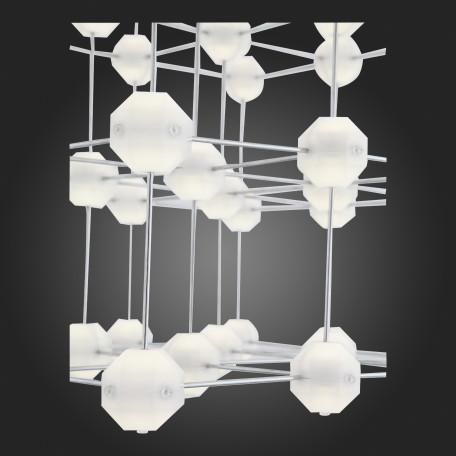 Подвесная светодиодная люстра ST Luce Atomo SL797.103.64 4000K (дневной), хром, белый, металл, пластик - миниатюра 5