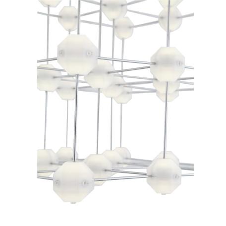 Подвесная светодиодная люстра ST Luce Atomo SL797.103.64 4000K (дневной), хром, белый, металл, пластик - миниатюра 6
