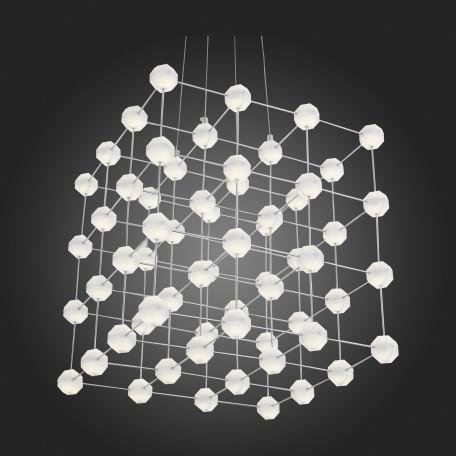 Подвесная светодиодная люстра ST Luce Atomo SL797.103.64 4000K (дневной), хром, белый, металл, пластик - миниатюра 8