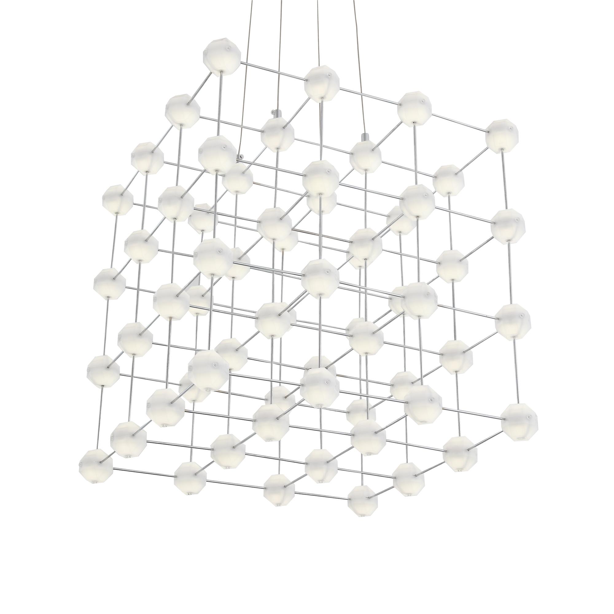 Подвесная светодиодная люстра ST Luce Atomo SL797.103.64 4000K (дневной), хром, белый, металл, пластик - фото 9