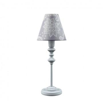 Настольная лампа Maytoni Classic 15 E-11-G-LMP-O-3, 1xE14x40W, серый, фиолетовый, металл, текстиль