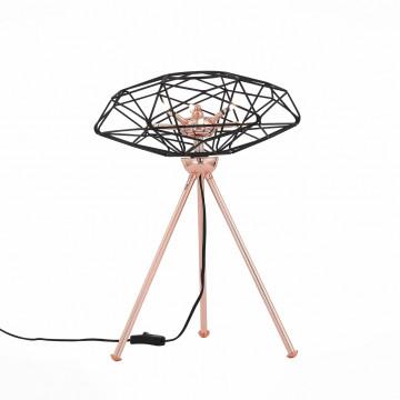 Настольная лампа ST Luce Galassia SL949.204.06, 6xG4x3W, медь, черный, металл