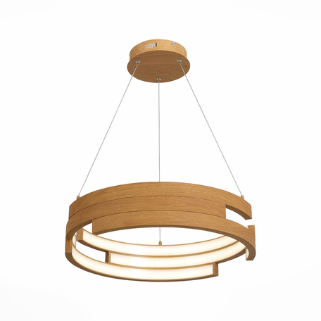 Подвесной светодиодный светильник ST Luce Genuine SL963.703.01, LED 45W 4000K 2920lm, коричневый, металл