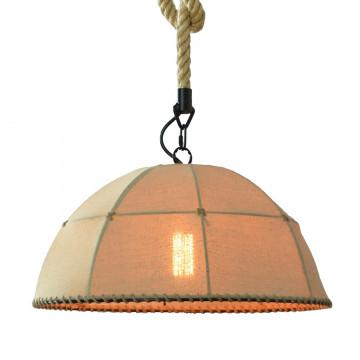 Подвесной светильник ST Luce Birder SLD964.503.01, 1xE27x60W, черный, бежевый, канат, текстиль