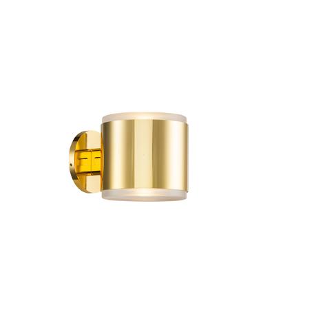 Настенный светодиодный светильник Lucia Tucci Illuminazione TUBE W5630.2 gold, IP44, LED 6W 3200K
