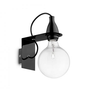 Бра Ideal Lux MINIMAL AP1 NERO 045214, 1xE27x60W, черный, металл
