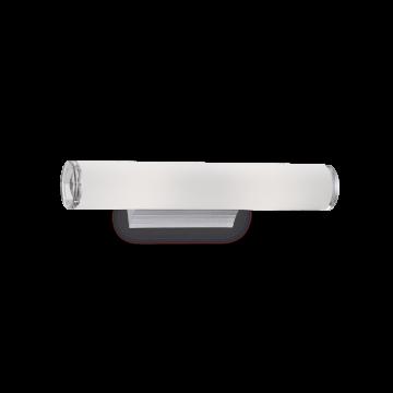 Настенный светильник Ideal Lux CAMERINO AP2 027081, 2xE14x40W, хром, белый, металл, стекло
