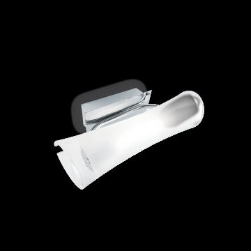 Настенный светильник Ideal Lux PILA AP1 CROMO 027265, 1xR7S118mmx150W, хром, белый, металл, стекло