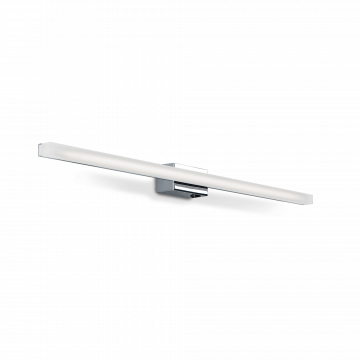 Настенный светодиодный светильник Ideal Lux LINE AP D75 031491 (LINE AP84 CROMO), LED 8,4W 4100K 820lm, хром, белый, металл, пластик