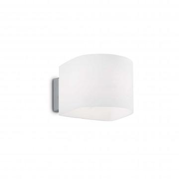 Настенный светильник Ideal Lux PUZZLE AP1 BIANCO 035185, 1xG9x40W, хром, белый, металл, стекло