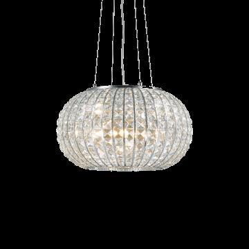 Подвесная люстра Ideal Lux CALYPSO SP3 044194, 3xE27x60W, хром, прозрачный, металл, стекло