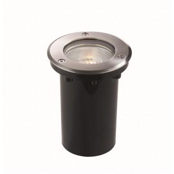 Встраиваемый светильник Ideal Lux PARK PT1 ROUND MEDIUM 032825, IP65, 1xE27x60W, сталь, металл, пластик, стекло