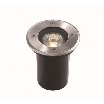 Встраиваемый светильник Ideal Lux PARK PT1 ROUND SMALL 032832, IP65, 1xGU10x20W, сталь, металл, пластик, стекло