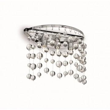 Бра Ideal Lux NEVE AP3 CROMO 033938, 3xG9x40W, хром, прозрачный, металл, стекло