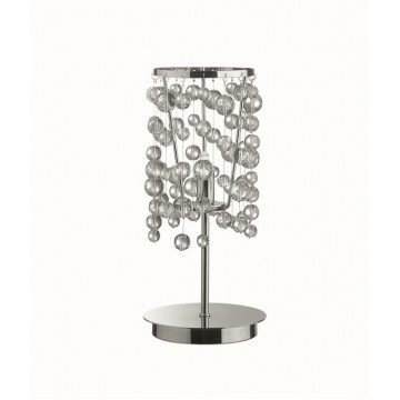 Настольная лампа Ideal Lux NEVE TL1 CROMO 033945, 1xG9x40W, хром, прозрачный, металл, стекло