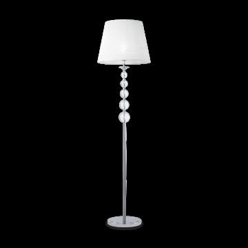 Торшер Ideal Lux STEP PT1 032313, 1xE27x100W, белый, металл, стекло, текстиль