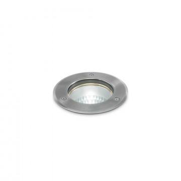 Встраиваемый в уличное покрытие светильник Ideal Lux PARK PT1 ROUND SMALL 032832, IP54, 1xGU10x20W, сталь, металл, стекло