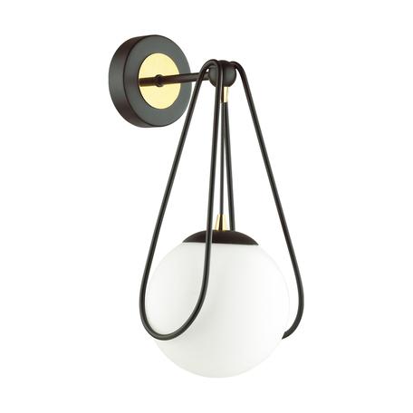 Бра Odeon Light Modern Carol 4268/1W, 1xE14x40W, черный, белый, металл, пластик