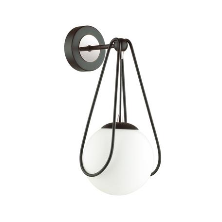Бра Odeon Light Modern Carol 4269/1W, 1xE14x40W, черный, белый, металл, пластик
