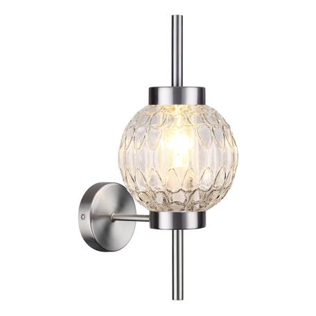Бра Odeon Light Modern Francesca 4274/1W, 1xE14x40W, никель, прозрачный, металл, стекло