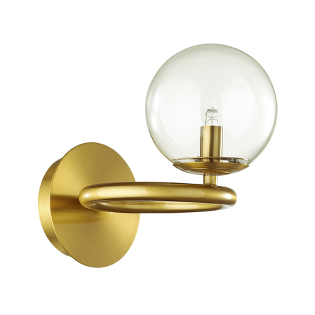 Бра Odeon Light Modern Nuvola 4276/1W, 1xG9x40W, матовое золото, прозрачный, металл, стекло