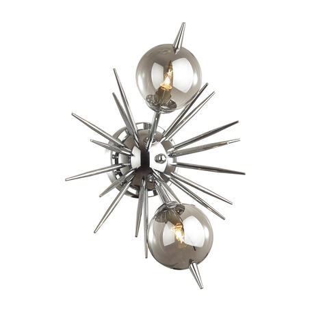 Бра Odeon Light Vilina 4787/2W, 2xG9x40W, хром, дымчатый, металл, стекло