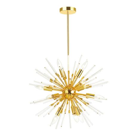Люстра на составной штанге Odeon Light Kadrilia 4849/12, 12xE14x40W, золото, металл со стеклом