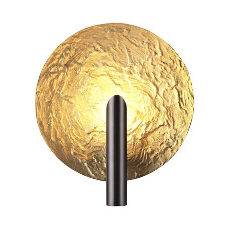 Настенный светильник Odeon Light L-Vision Florence 4229/1WL, 1xG9x25W, черный, матовое золото, металл