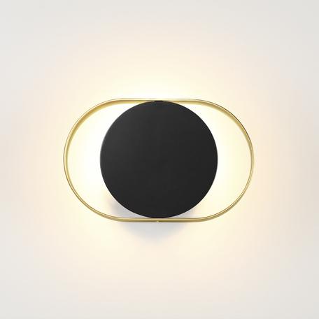 Настенный светодиодный светильник Odeon Light Hightech Mondy 4246/7WB, LED 7W 3000K 480lm, черный, металл