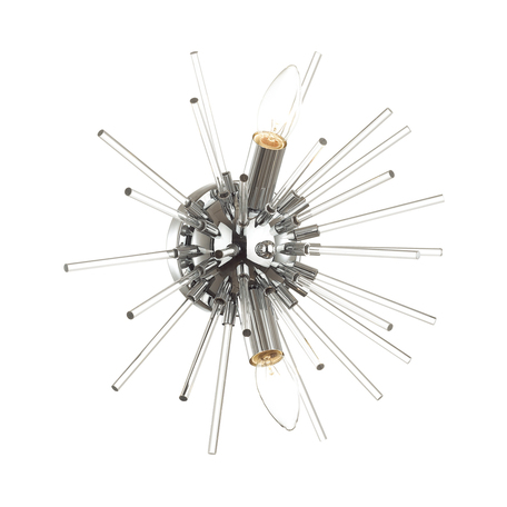Настенный светильник Odeon Light Kadrilia 4828/2W, 2xE14x40W, хром, металл со стеклом