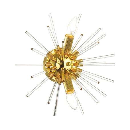 Настенный светильник Odeon Light Hall Kadrilia 4849/2W, 2xE14x40W, золото, металл, стекло