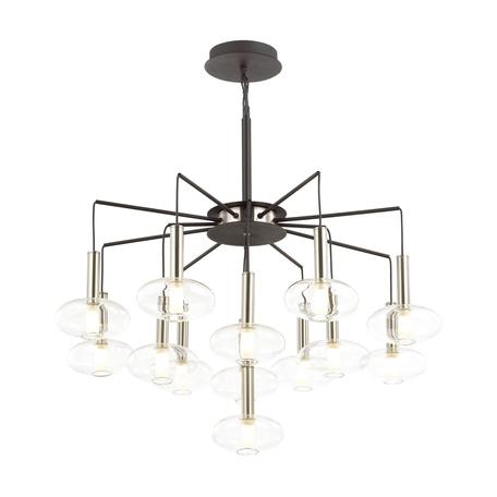 Подвесная люстра Odeon Light Modern Vele 4815/13, 13xG9x40W, черный, прозрачный, металл, стекло