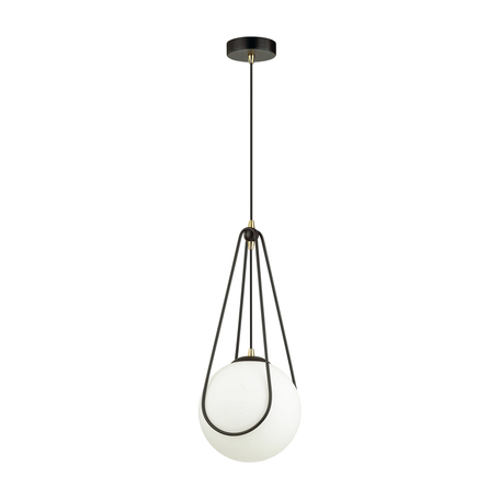 Подвесной светильник Odeon Light Modern Carol 4268/1, 1xE14x40W, черный, белый, металл, пластик