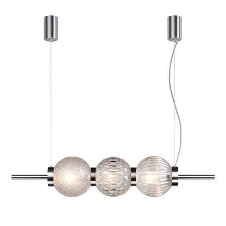 Подвесной светильник Odeon Light Modern Francesca 4273/3, 3xE14x40W, никель, прозрачный, металл, стекло
