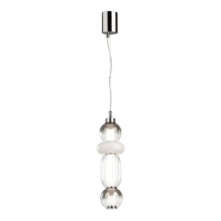 Подвесной светодиодный светильник Odeon Light Pendant Beans 4827/18L, LED 18W 4000K 940lm, хром, дымчатый, металл, стекло