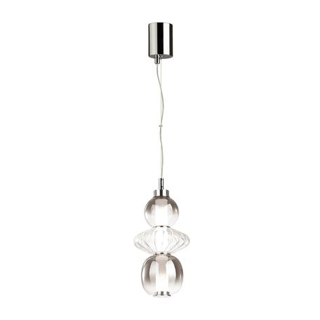 Подвесной светодиодный светильник Odeon Light Pendant Monra 4867/8L, LED 8W 4000K 560lm, хром, дымчатый, металл, стекло