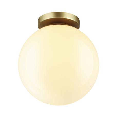 Потолочный светильник Odeon Light Hightech Bosco 4248/1C, IP44, 1xE27x9W, матовое золото, белый, металл, пластик
