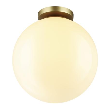 Потолочный светильник Odeon Light Hightech Bosco 4249/1C, IP44, 1xE27x12W, матовое золото, белый, металл, пластик