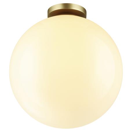 Потолочный светильник Odeon Light Hightech Bosco 4250/1C, IP44, 1xE27x15W, матовое золото, белый, металл, пластик