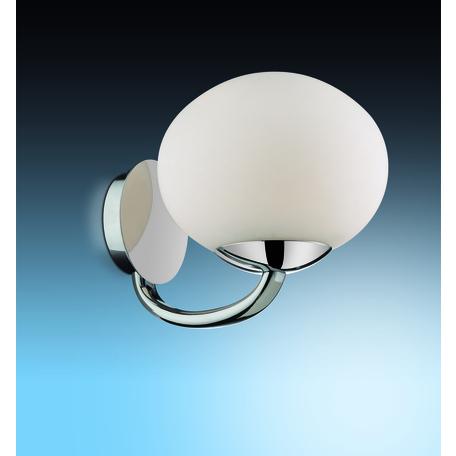 Бра Odeon Light Rolet 2044/1W, 1xE14x40W, хром, белый, металл, стекло