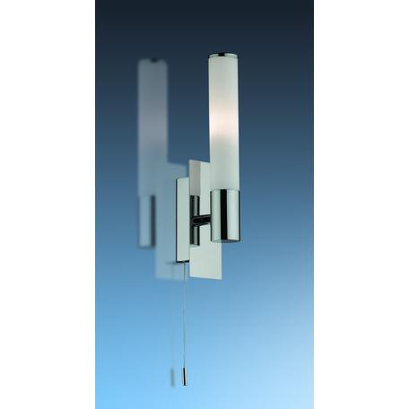 Бра Odeon Light Vell 2139/1W, IP44, 1xG9x40W, хром, белый, металл, стекло
