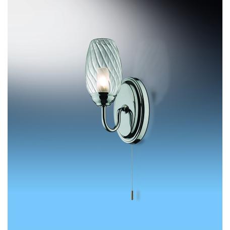 Бра Odeon Light Drops Batto 2147/1W, IP44, 1xG9x40W, хром, прозрачный, металл, стекло