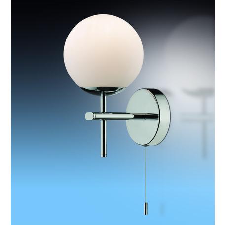 Бра Odeon Light Drops Batto 2157/1W, IP44, 1xG9x40W, хром, белый, металл, стекло