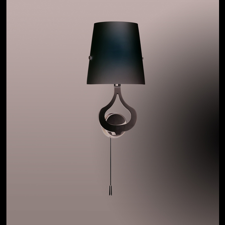 Бра Odeon Light Tiara 2184/1W, 1xE14x40W, хром, белый, металл, стекло