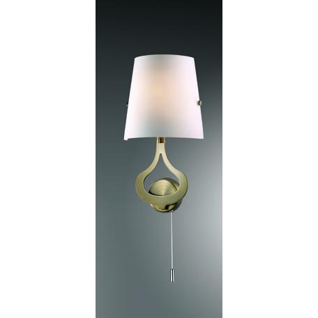 Бра Odeon Light Tiara 2186/1W, 1xE14x40W, бронза, белый, металл, стекло
