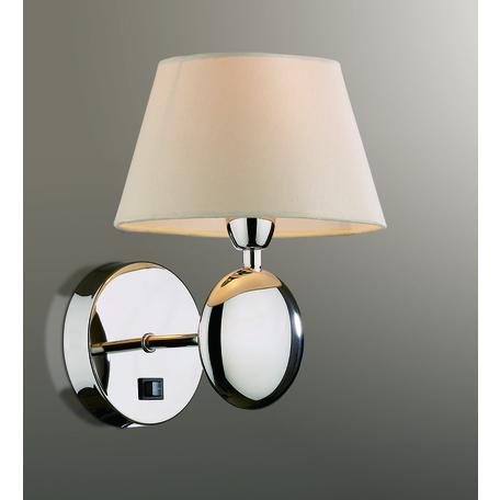 Бра Odeon Light Modern Hotel 2195/1W, 1xE14x40W, хром, бежевый, металл, текстиль