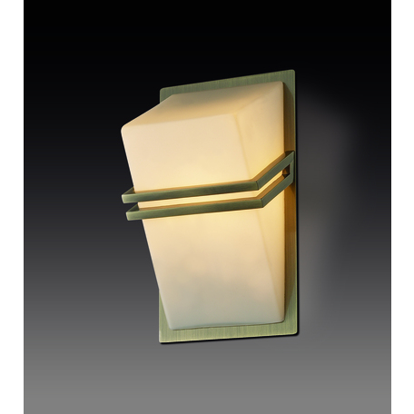 Настенный светильник Odeon Light Walli Tiara 2023/1W, 1xG9x40W, бронза, белый, металл, стекло