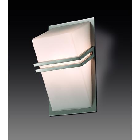 Настенный светильник Odeon Light Tiara 2025/1W, 1xG9x40W, никель, белый, металл, стекло