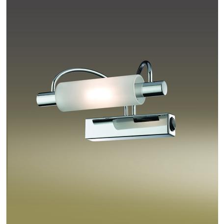 Настенный светильник Odeon Light Wiron 2034/1W, 1xR7S78mmx100W, хром, белый, металл, стекло