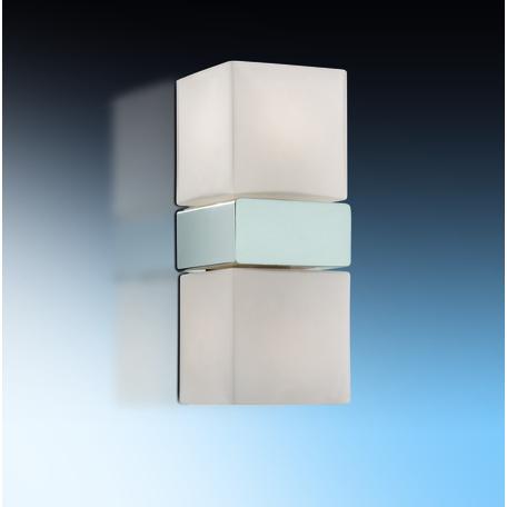 Настенный светильник Odeon Light Drops Wass 2136/2A, IP44, 2xG9x40W, хром, белый, металл, стекло